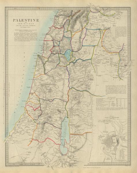 PALESTINE & the Hauran. Israel Jordan Syria Lebanon Jerusalem plan SDUK 1874 map