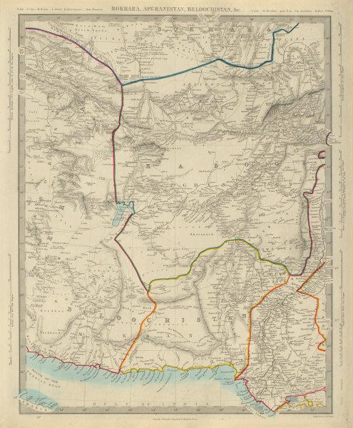 Associate Product BUKHARA AFGHANISTAN & BELOOCHISTAN Khorassan Sindh Pakistan.SDUK 1874 old map