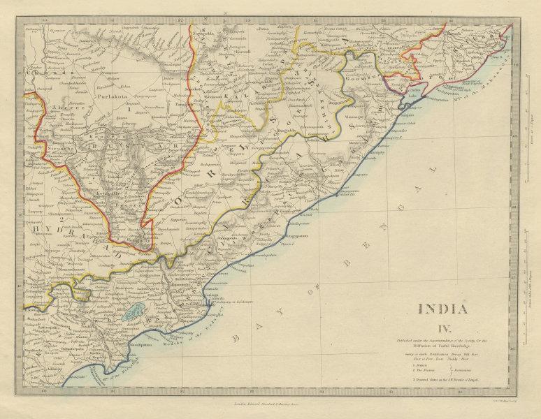 Associate Product INDIA Circars Hyderabad Orissa Odisha Andhra Pradesh Chhattisgarh. SDUK 1874 map