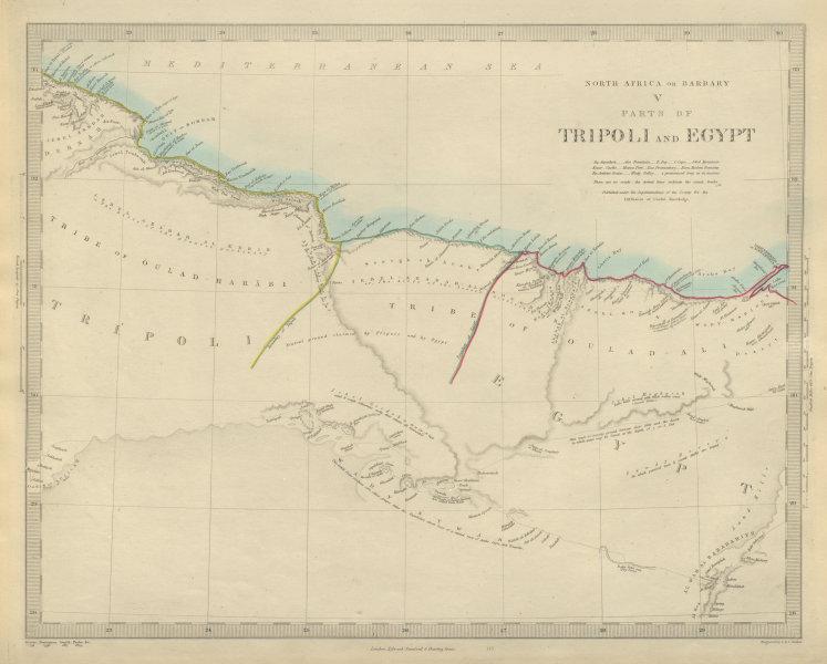 Associate Product NORTH AFRICA BARBARY. Tripoli Libya Egypt coast Alexandria Tobruk. SDUK 1874 map