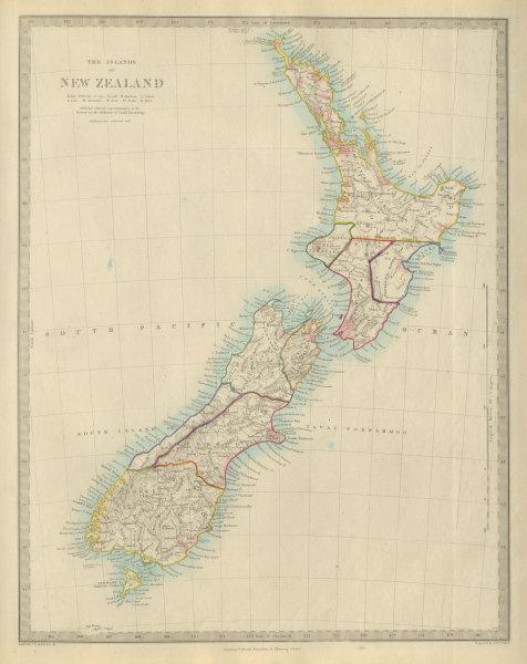 Associate Product NEW ZEALAND provinces inc. Westland. Tavai Poenammoo Eaheinomauwe. SDUK 1874 map