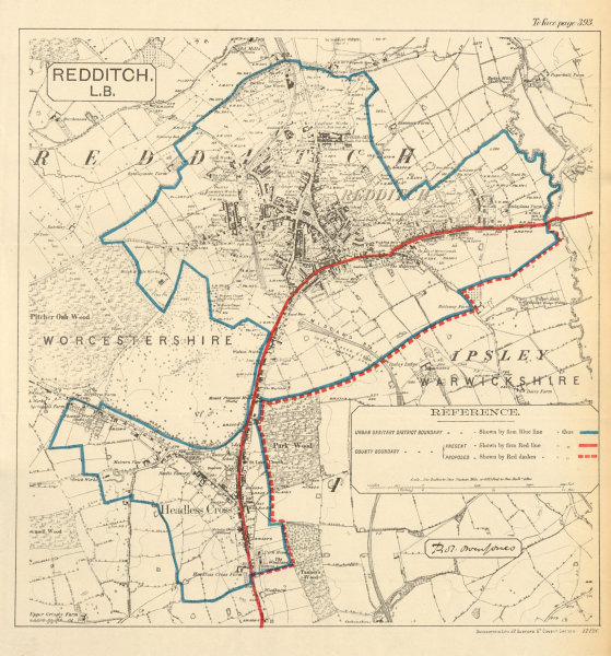 Associate Product Redditch. JONES. PARLIAMENTARY BOUNDARY COMMISSION 1888 old antique map chart
