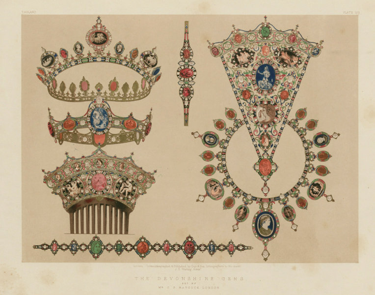 Associate Product INTERNATIONAL EXHIBITION. The Devonshire gems - Mr C F Hancock, London 1862