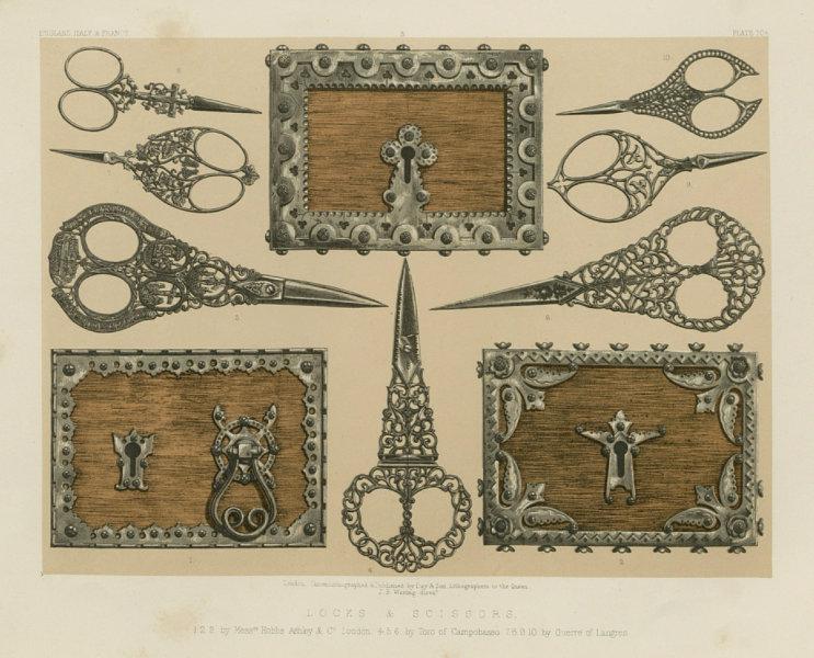 Associate Product INTERNATIONAL EXHIBITION. Locks scissors Hobbs Ashley Campobasso Guerre 1862