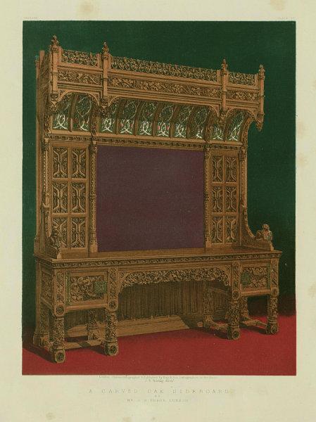 Associate Product INTERNATIONAL EXHIBITION. A carved oak sideboard - Mr J C Crace, London 1862