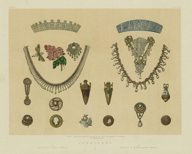 Associate Product INTERNATIONAL EXHIBITION. Jewellery. Mellerio; Marret Beaugrand, Paris 1862