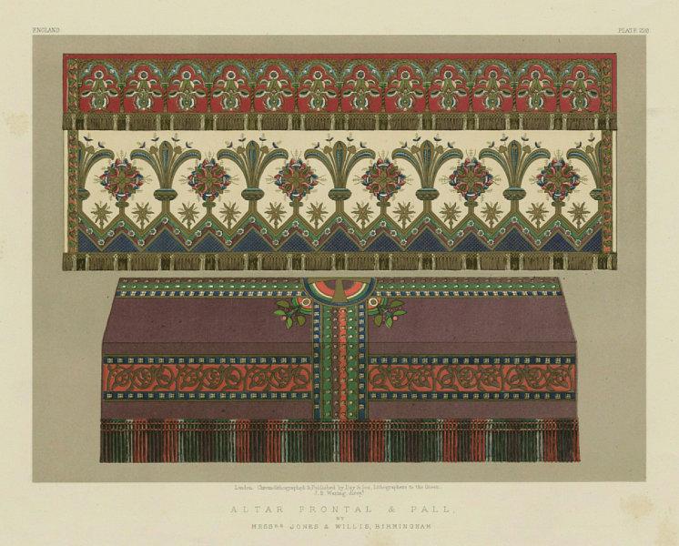INTERNATIONAL EXHIBITION. Alter frontal/pall. Jones & Willis, Birmingham 1862