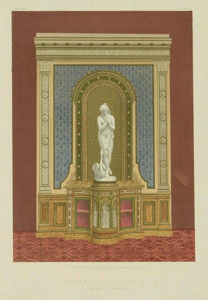 Associate Product INTERNATIONAL EXHIBITION. Internal decoration - J Thomas Sculptor 1862 print