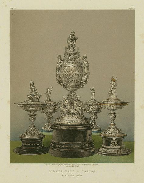 Associate Product INTERNATIONAL EXHIBITION. Silver vase & tazzas - Mr Hancock, London 1862 print