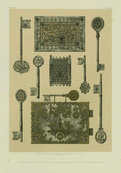 Associate Product INTERNATIONAL EXHIBITION. Locks keys Chubb. Price/Gibbons Wolverhampton 1862