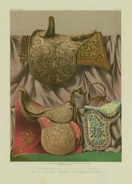 Associate Product INTERNATIONAL EXHIBITION. Leather Garcia Middlemore Birmingham 1862 old print