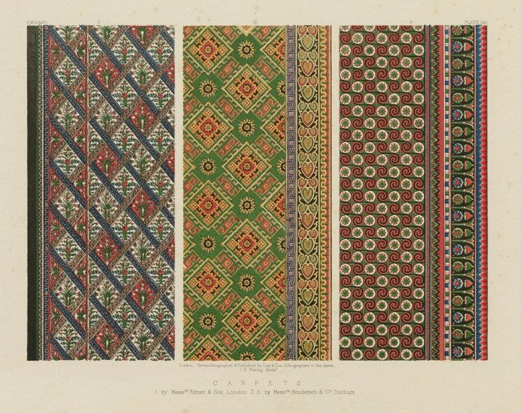 Associate Product INTERNATIONAL EXHIBITION. Carpets by Filmer, London & Henderson, Durham 1862