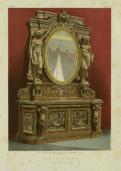 Associate Product INTERNATIONAL EXHIBITION. A sideboard - J Lamb, Manchester 1862 old print