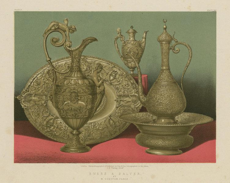 Associate Product INTERNATIONAL EXHIBITION. Ewers & salver - M Gueyton, Paris 1862 old print
