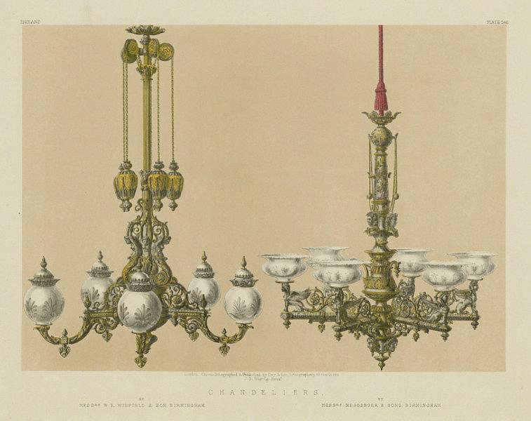 Associate Product INTERNATIONAL EXHIBITION. Chandeliers. Winfield, Messenger, Birmingham 1862
