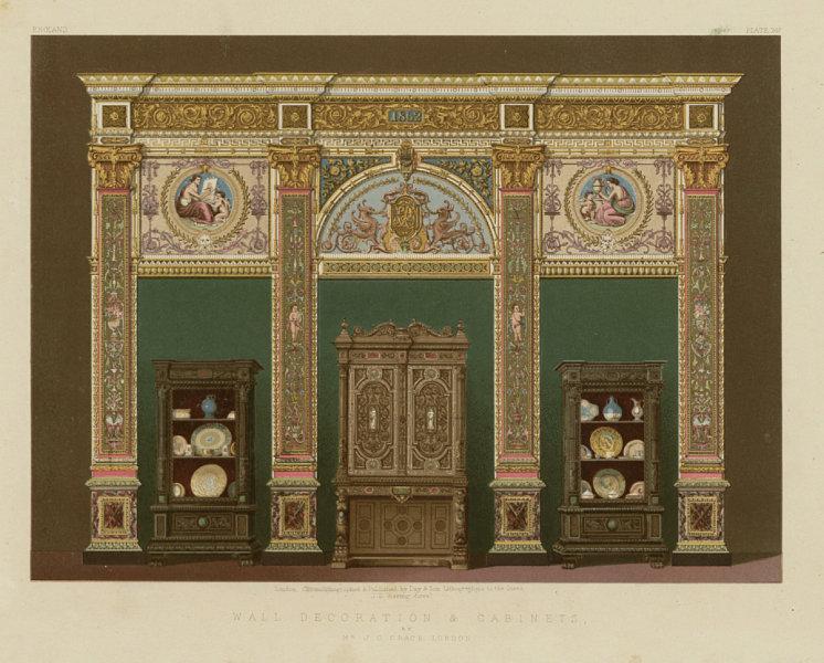 Associate Product INTERNATIONAL EXHIBITION. Wall decoration & cabinets. J C Crace, London 1862