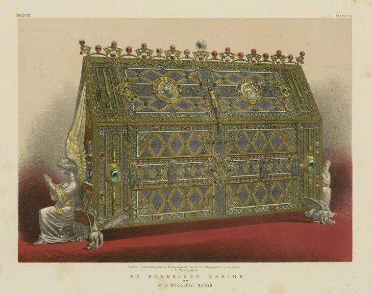 Associate Product INTERNATIONAL EXHIBITION. An enamelled shrine - F J Rudolphi, Paris 1862 print