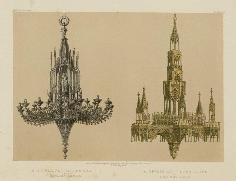 Associate Product INTERNATIONAL EXHIBITION. Chandelier Ysaura Barcelona Herrman Danzig 1862