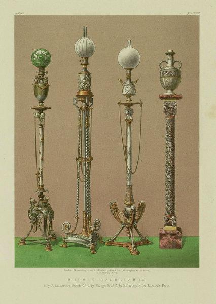 Associate Product INTERNATIONAL EXHIBITION. Candelabra Lacarriere Raingo Descole Lerolle 1862