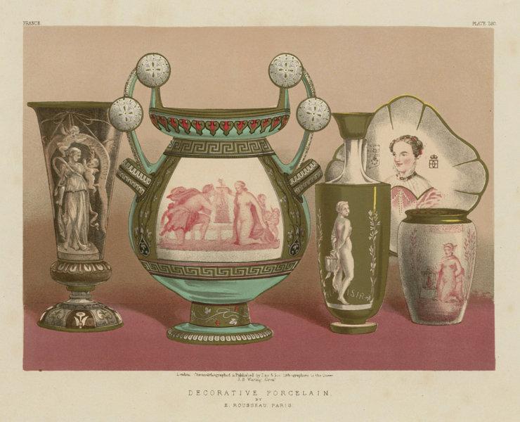 Associate Product INTERNATIONAL EXHIBITION. Decorative porcelain - E Rousseau, Paris 1862 print