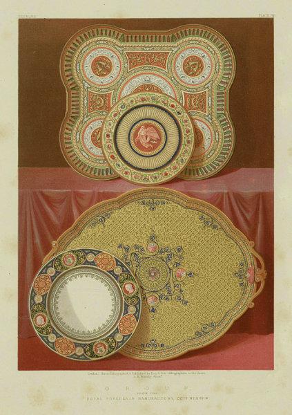 Associate Product INTERNATIONAL EXHIBITION. Royal Porcelain Manufactory, Copenhagen 1862 print