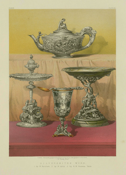 Associate Product INTERNATIONAL EXHIBITION. Silversmiths work Fanniere Jarry Bruneau Paris 1862