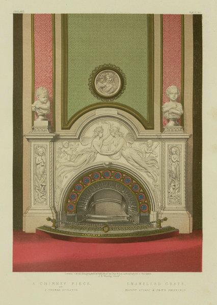 Associate Product INTERNATIONAL EXHIBITION. Chimney piece grate. Stuart Smith Sheffield 1862