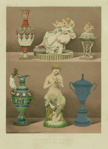 Associate Product INTERNATIONAL EXHIBITION. Coloured porcelain - M.Gille Junr. Paris 1862 print