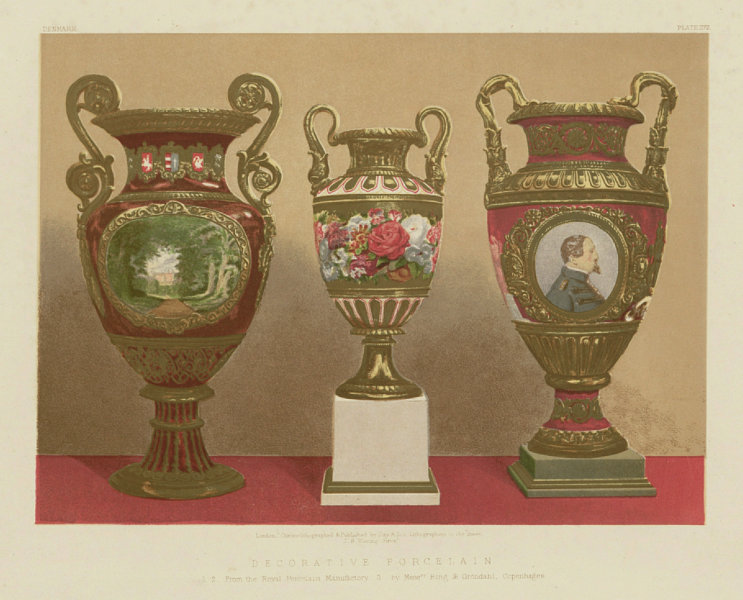 INTERNATIONAL EXHIBITION. Royal Porcelain. Bing & Grondahl Copenhagen 1862