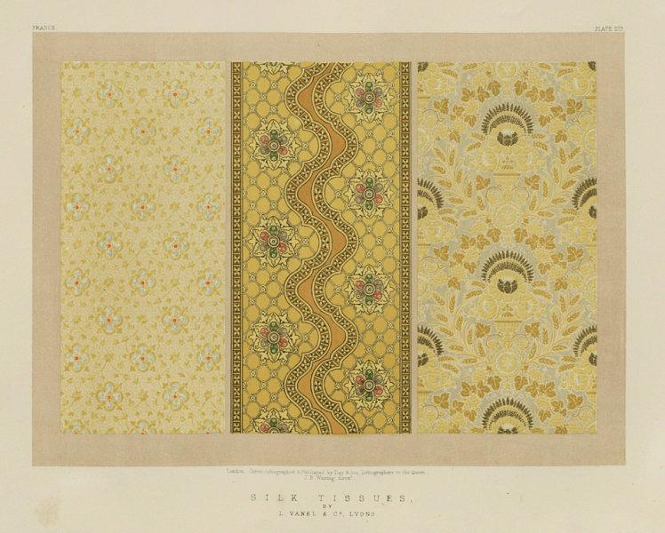 Associate Product INTERNATIONAL EXHIBITION. Silk tissues - L Vanel & Co Lyon 1862 old print