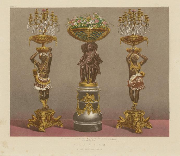 Associate Product INTERNATIONAL EXHIBITION. Bronzes - M Deniere Fils, Paris 1862 old print