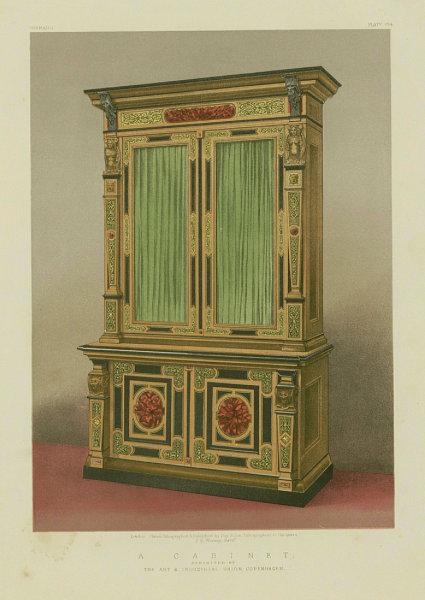 Associate Product INTERNATIONAL EXHIBITION. A cabinet. Art & Industrial Union, Copenhagen 1862