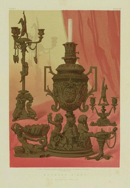 Associate Product INTERNATIONAL EXHIBITION. Bronze d'Art - F Gautier 1862 old antique print