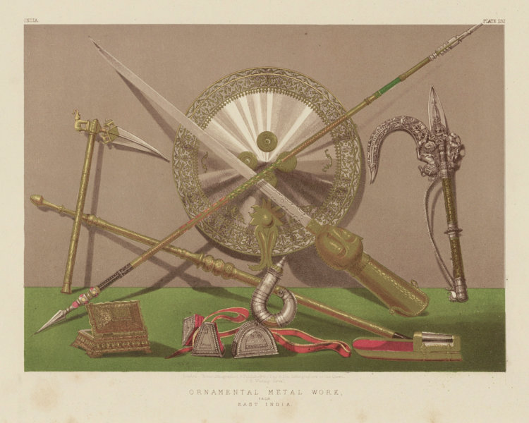 Associate Product INTERNATIONAL EXHIBITION. Ornamental metal work from East India 1862 old print