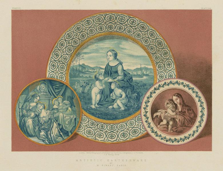 Associate Product INTERNATIONAL EXHIBITION. Artistic earthenware - M Pinart, Paris 1862 print