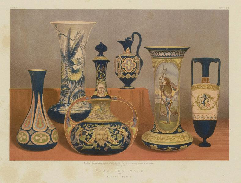 Associate Product INTERNATIONAL EXHIBITION. Majolica ware - M Jean, Paris 1862 old antique print