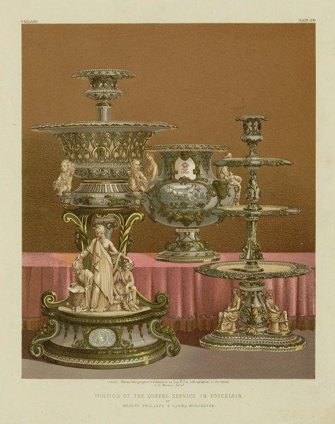 Associate Product INTERNATIONAL EXHIBITION. Queen's porcelain. Phillips & Binns, Worcester 1862