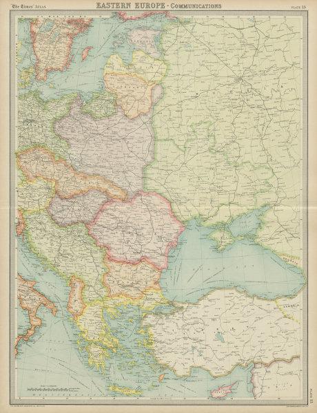 Associate Product Eastern Europe Italian Albania Czechosolvakia Carpathian Ruthenia TIMES 1922 map