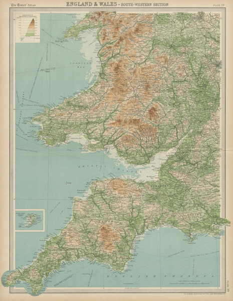 Map Of England Midlands.South West England S Wales Devon Cornwall West Midlands Times