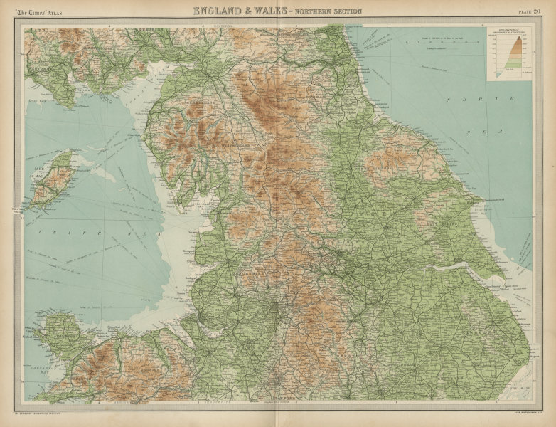 Associate Product Northern England & N Wales. Pennines Lake District Yorkshire. THE TIMES 1922 map