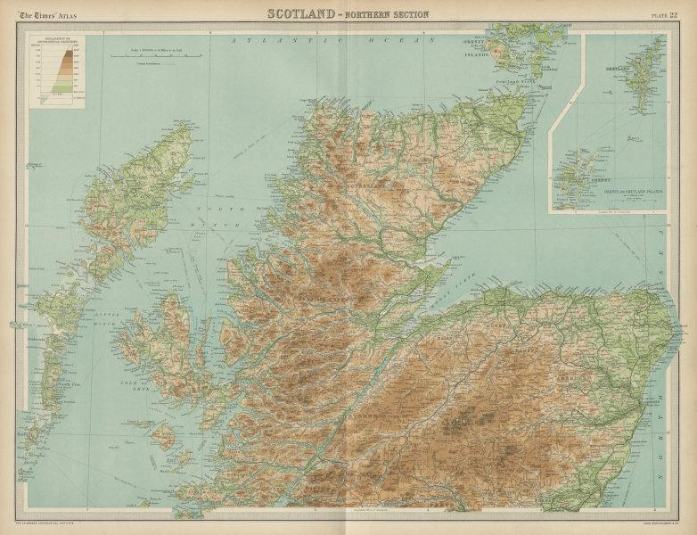 Associate Product Northern Scotland. Highlands & Islands. Hebrides Cairngorms. TIMES 1922 map