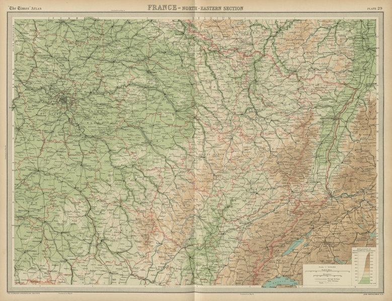 Associate Product NE France. Champagne Burgundy Alsace Lorraine Franche Comté. THE TIMES 1922 map