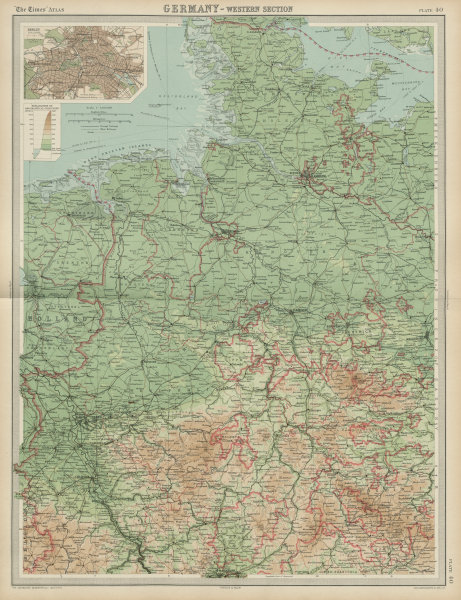 Associate Product Western Germany. Westphalia Hanover Oldenburg &c. THE TIMES 1922 map