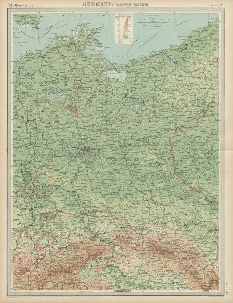 Associate Product Eastern Germany. Poland. Pomerania Brandenburg Silesia. THE TIMES 1922 old map