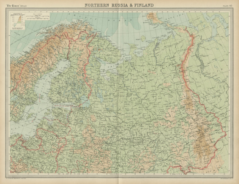 Associate Product Northern Russia & Finland. Baltic States. Unresolved borders. THE TIMES 1922 map
