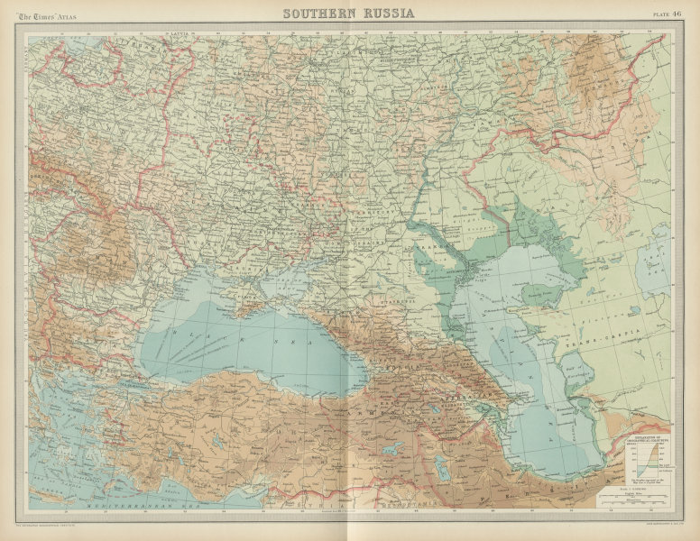 Associate Product Southern Russia Ukraine. Greek Zone of Smryna. Unresolved borders TIMES 1922 map