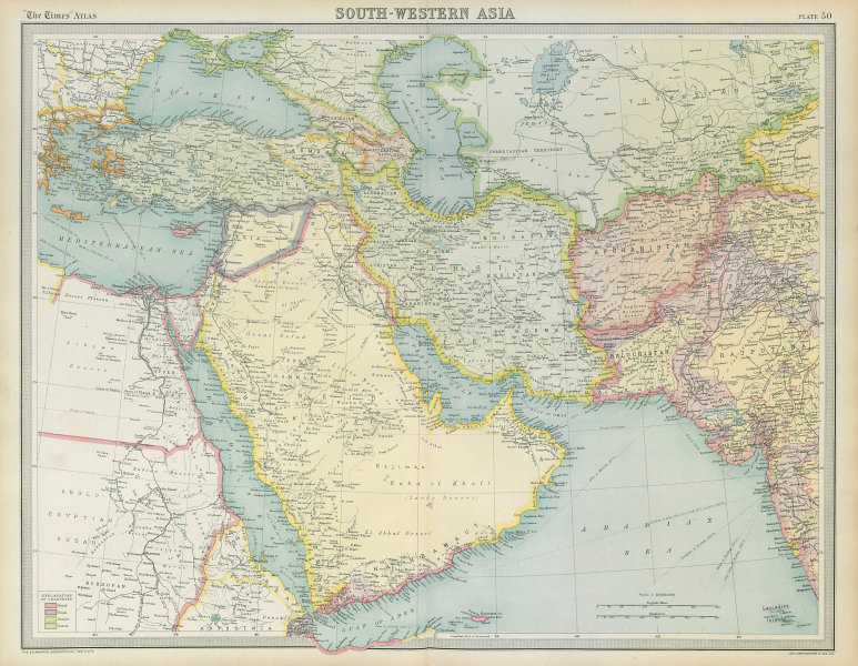 Associate Product Arabia & Middle East. Debai/Dubai Abu Dhabi Koweit/Kuwait. THE TIMES 1922 map