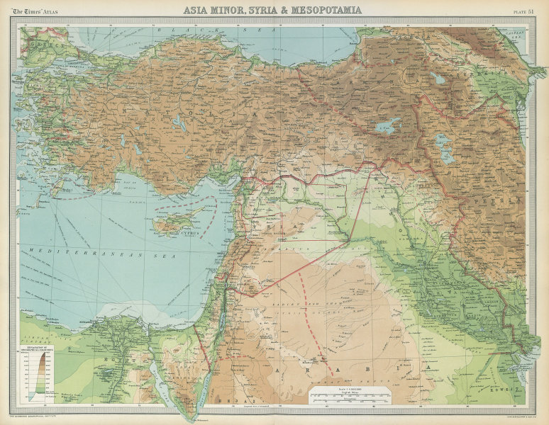 Associate Product Middle East Treaty of Sèvres 1st Republic of Armenia Greek Ionia. TIMES 1922 map