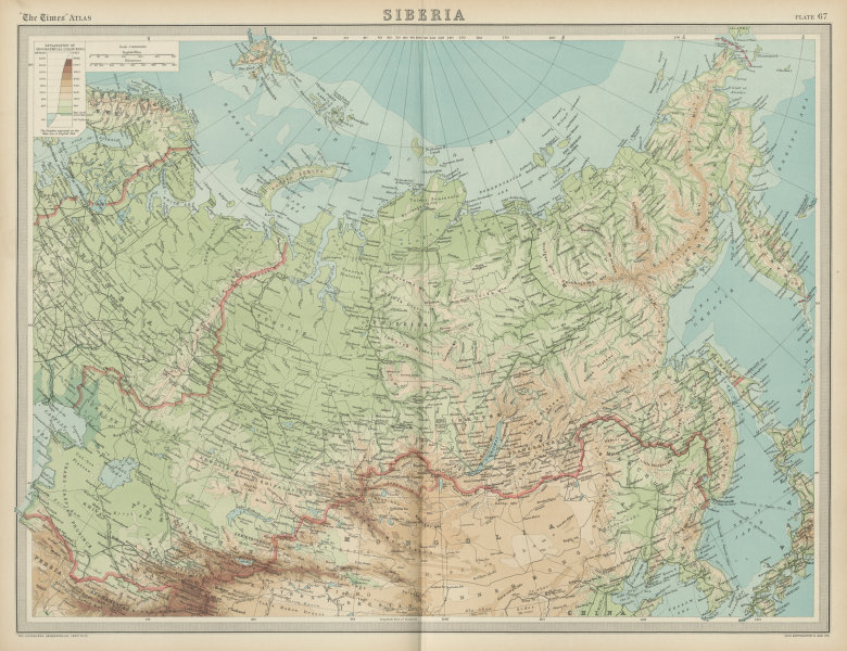 Associate Product Siberia. Russia. Uryankhansk Country unresolved border. THE TIMES 1922 old map