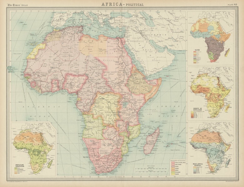 French Africa Map.Colonial Africa Ethnicity British French Portuguese Belgian Times